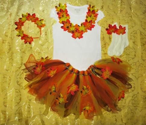 Как сделать платье для осеннего праздника